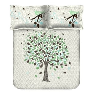 Block Print Cotton Double Bed Sheet With Pillow Cover