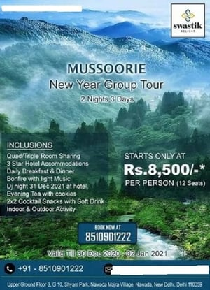 Mussoorie Group Tour Services (New Year Package 2021)