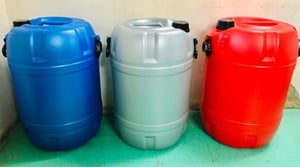 50 And 55 Liter Drums