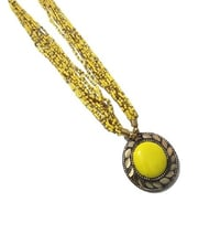 Yellow Mix Seed Bead Necklace
