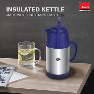 Insulated Stainless Steel Blue Kettle