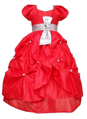 Fashionable Gown Attached With A Bow