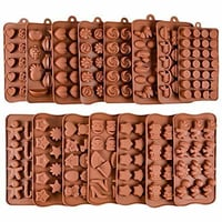 Brown Silicone Chocolate Moulds