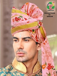 Designer Chanderi Turban for Marriage
