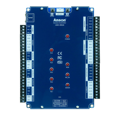 Electric Door Strike Lock Complete TCP/IP Network 4Doors Access Control Board System Door Control Relay Box With Time Clock