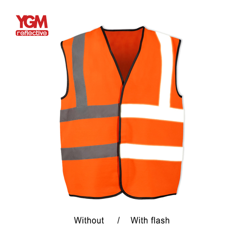 High Visibility Construction Uses Safety Vest