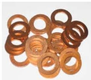 Industrial Copper Spring Washers
