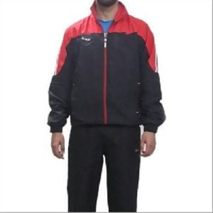 Black And Red Mens Plain Tracksuit