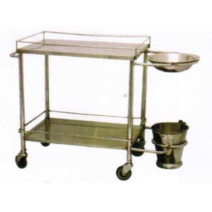 Silver Stainless Steel Dressing Trolley