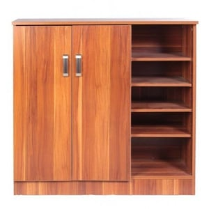 Brown Wooden Shoes Cabinet
