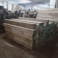 Brown Teak Wood Logs
