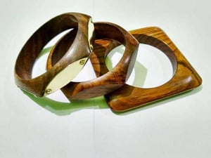 Smooth Finish Wooden Bangles