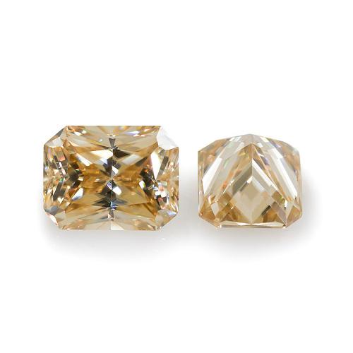 Yellowish Color Radiant Moissanite Loose Gemstone Synthetic Diamonds