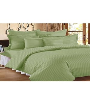 Florida Satin 300 TC Cotton Double Bed Sheet With Two Pillow Covers