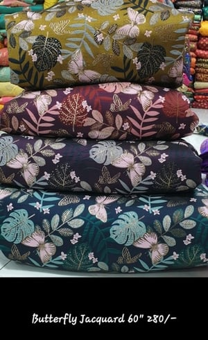 Eco Friendly Butterfly Jacquard Fabric