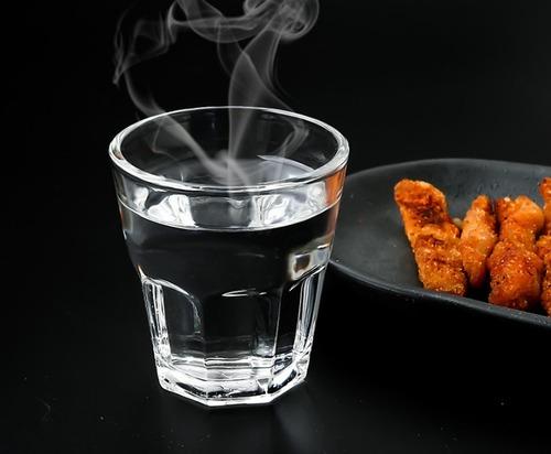 Octagonal Shape Glass Cup