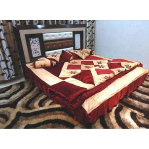 Printed Flannel Bed Sheet