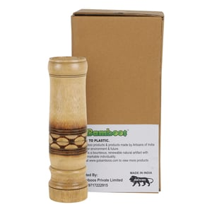 2.5''X10.5'' Bamboo Wood Crafted Flower Vase