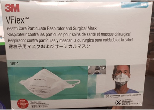 3M 1804S VFlex, N95 Healthcare Particulate Respirator And Surgical Mask