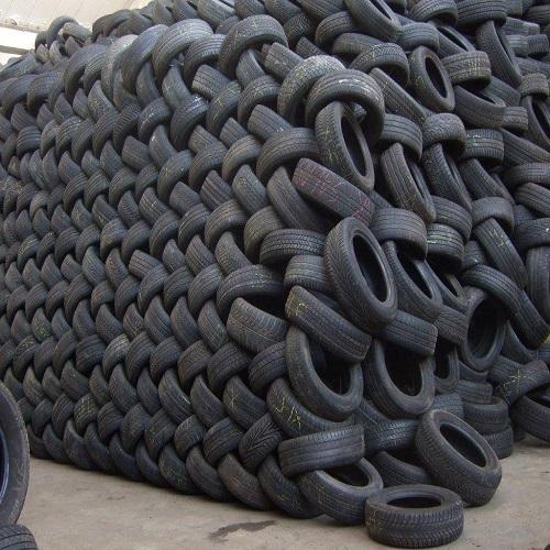 Black Rubber Tyre Scrap