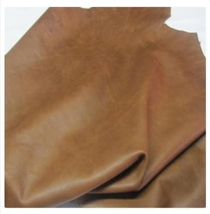 Plain Brown Goat Leather