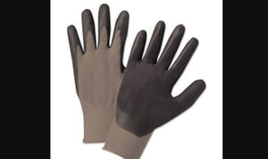 Rubber Coated Safety Hand Gloves