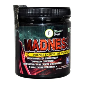 Madness Pre Intense Energy Pre Workout Health Supplement