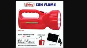 Sun Flame Solar Rechargeable LED Torch