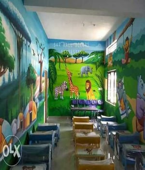 Play School Wall Painting in India