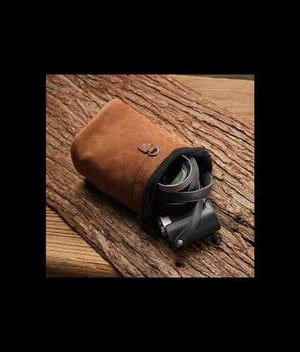 Leather Camera Pouch Bags