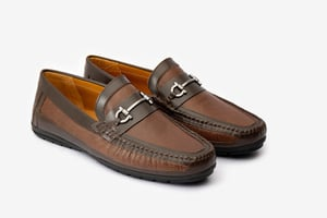 Smooth Finish Brown Loafers