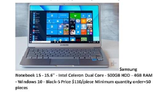 Samsung Dual Core Black Notebook