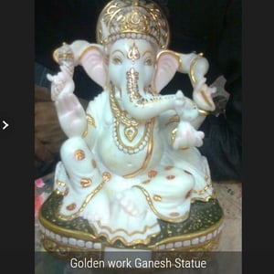 Gold Plated Lord Ganesh Statue