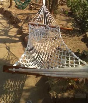 Outdoor Knotted Hammock Swing