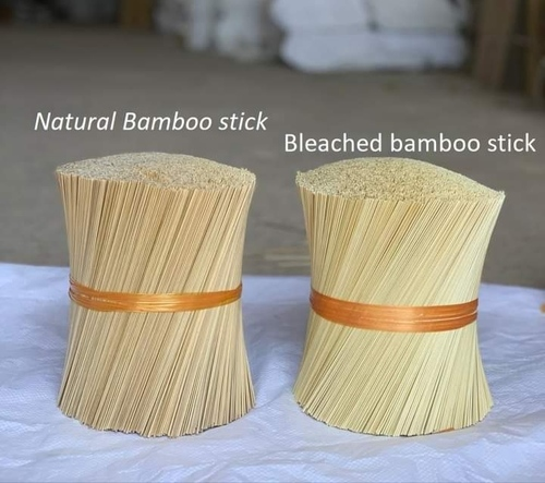 Natural And Bleached Bamboo Sticks For Making Incense Agarbatti