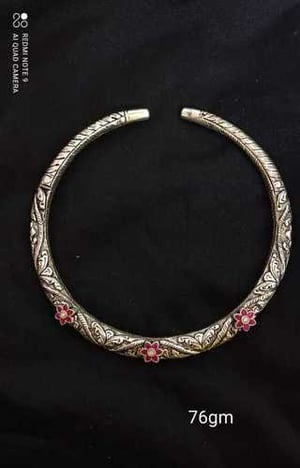 Antique Finished Handcrafted Silver Neck Piece Or Hasli