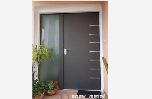 Aluminum Double Front Doors