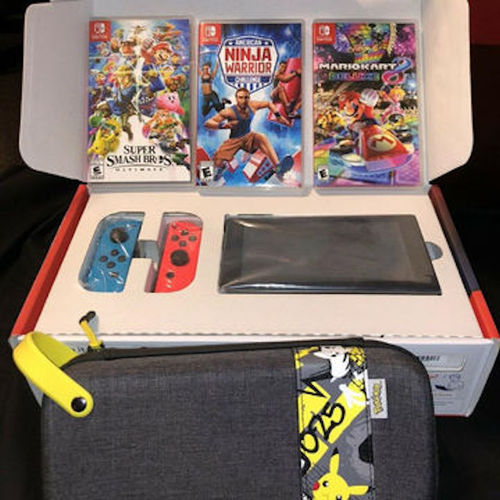 Nintendos Switch 32gb Console With Neon Blue And Neon Red Joy-Con