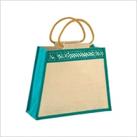 Easy To Carry Embroidery Jute Bag