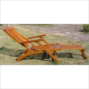 Wooden With Arm Beach Chair