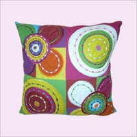 Multi Colored Printed Cushion Cover