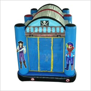 Blue Color Inflatable Fun Shooting Game