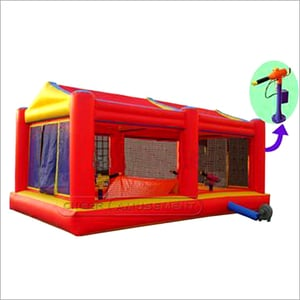 Red Color Inflatable Fun Shooting Game