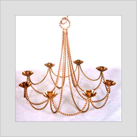 Golden Elegant Candle Iron Chandelier