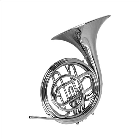 Non-Electric Silver Color French Horn