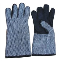 Chainmail Leather Hand Gloves