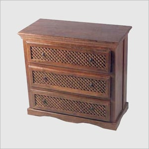 Wooden Table Front Draws