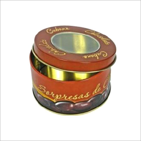 Brown Round Tin Gift Box