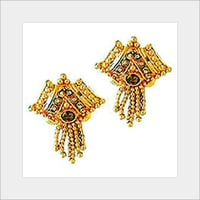 Contemporary Designs Gold Studded Earrings