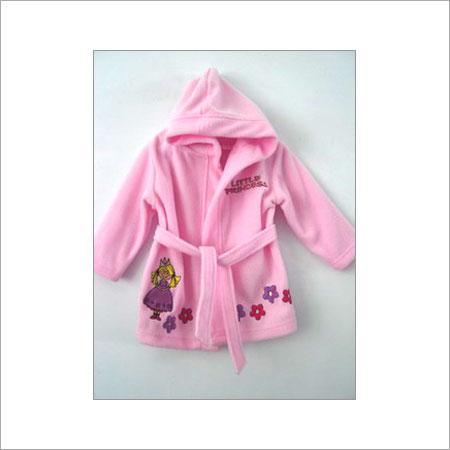 Pink Elegant Look Kids Hooded Bathrobes